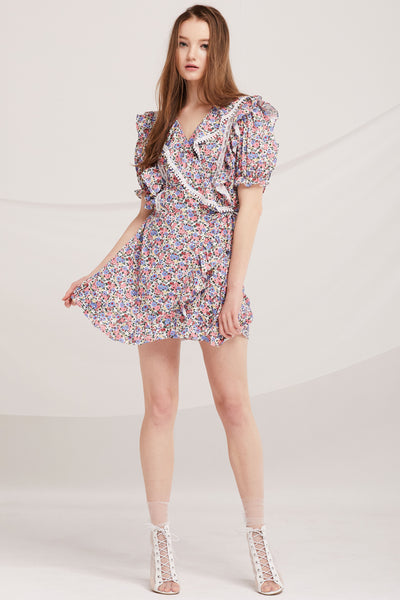 Ivanna Floral Ruffle Romper