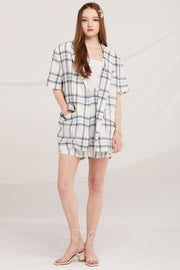 Elliot Belted Plaid Jacket