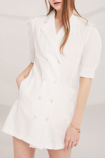 Imani Linen Blazer Dress
