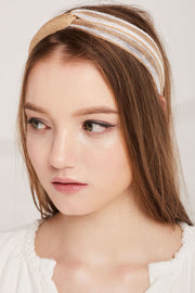 Gold Brocade Rattan Headband