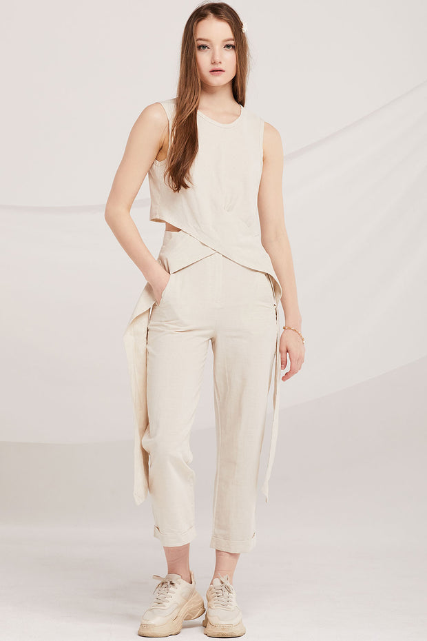 Leanna Cross-Front Top And Pants Set