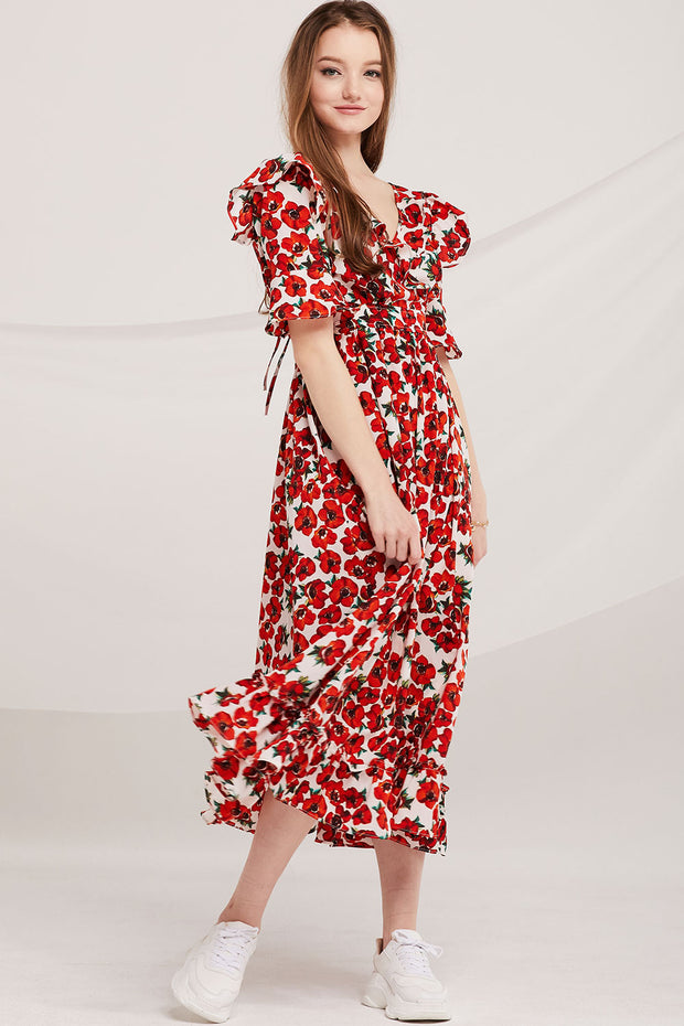 Kenley Floral Blossom Wrap Dress