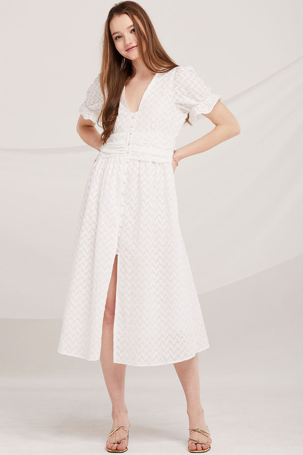 Savanna Pea-Button Lace Dress