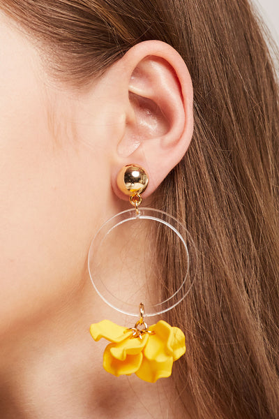 Flower Petal Dangle Earrings