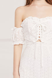 Lorelai Eyelet Lace Up Dress