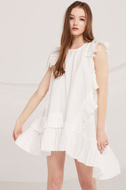 Kynlee Accordion Pleated Trim Dress