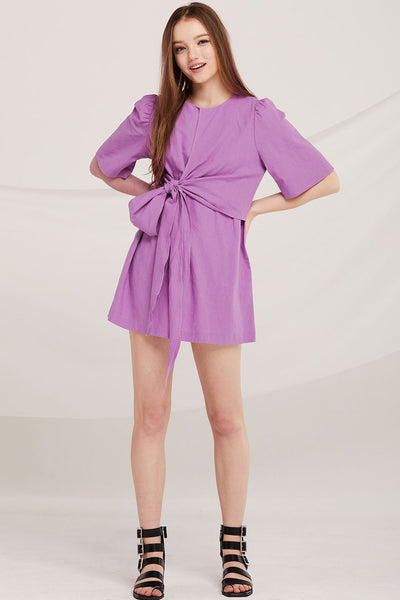 Tenley Tie Ruched Dress