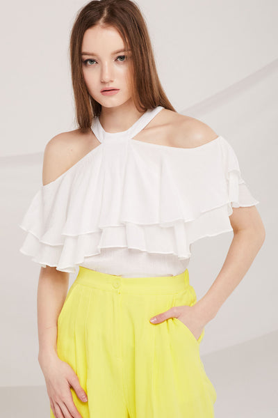 Laurel Tiered Ruffle Halter Top