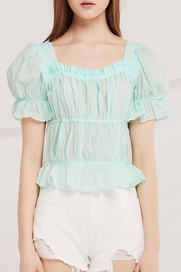 Ailani Ruched Crop Top