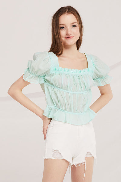 storets.com Ailani Ruched Crop Top