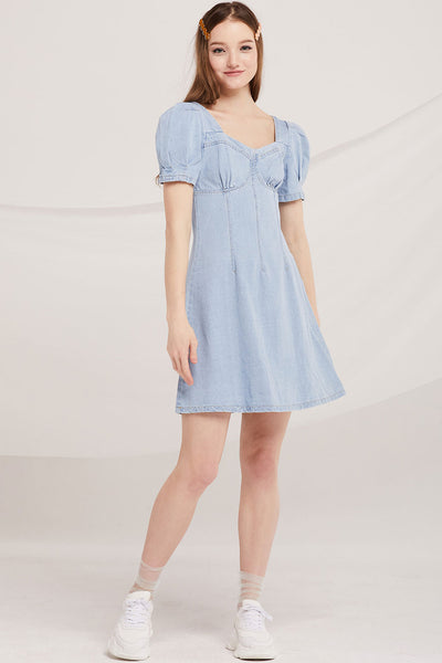 Gloria Bustier Denim Dress