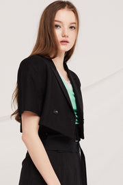 Janessa Cropped Suit Jacket