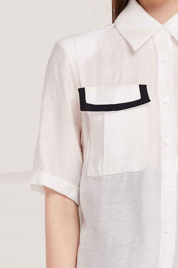 Karlie Sheer Shirt w/Contrast Flap