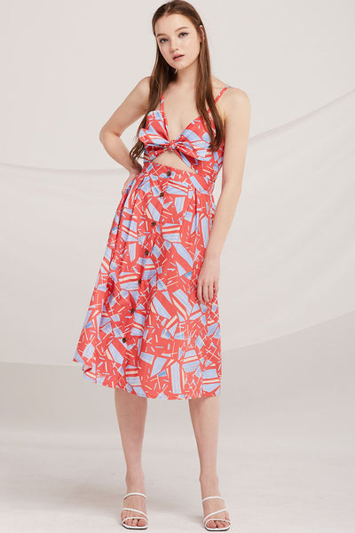 Aleena Tie-Front Cami Dress