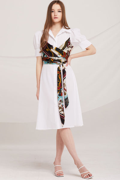 Ryann Scarf Sash Dress