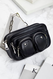 Utility Pockets Pleather Bag