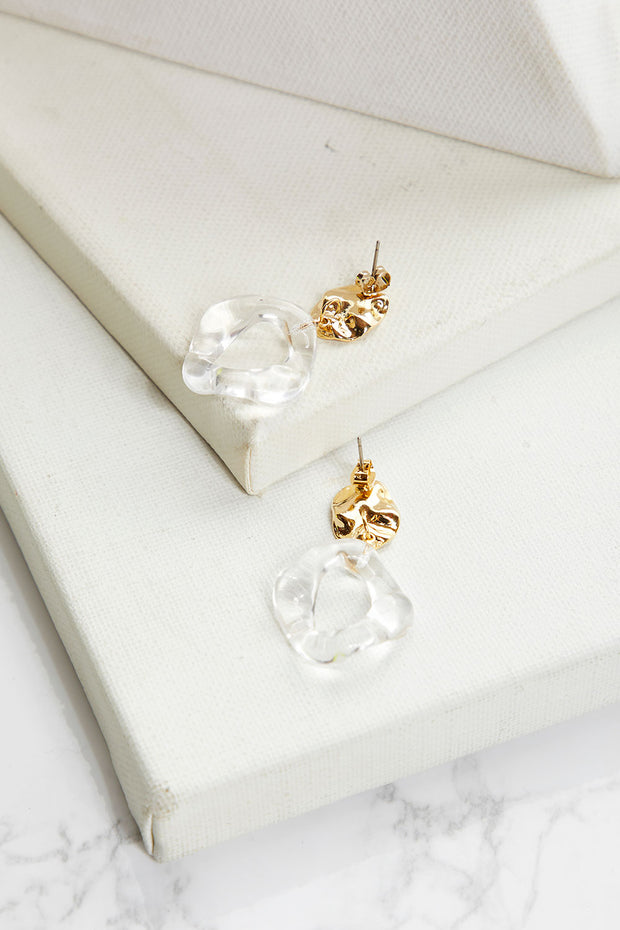 Clear Drop Dangle Earrings