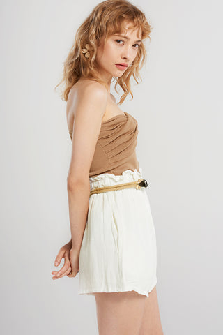 Renata Twist Tube Top-Brown