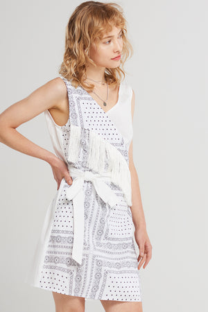 Helen Bandana Point Dress-Ivory