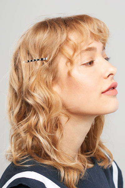 Wavy Hair Pin 2 Set-Silver