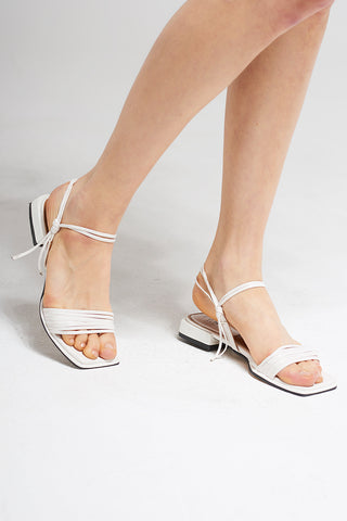 Strappy knotted sandals