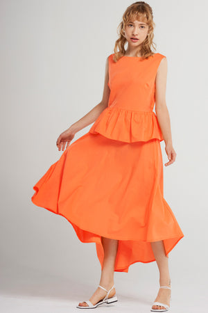Sia Open Back Dress-Orange