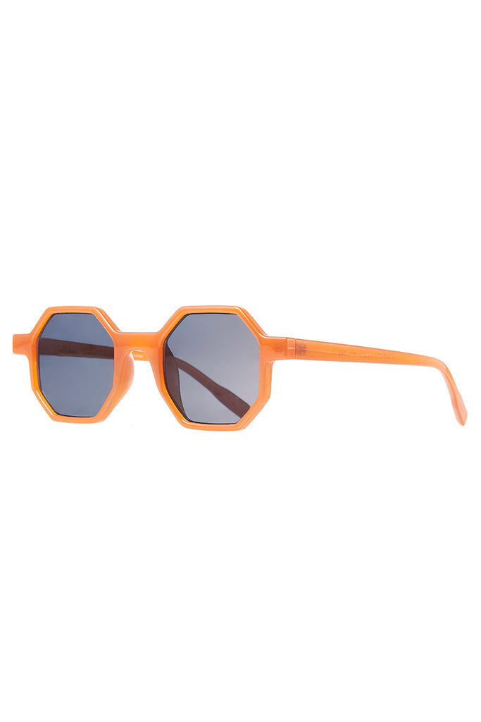 Hexagon Sunglasses-Orange