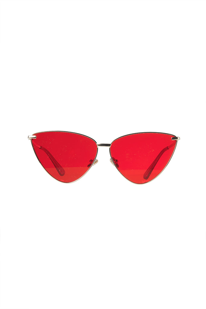 Cateye Tint Sunglasses-Red