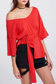 Robin O Ring Belted Top