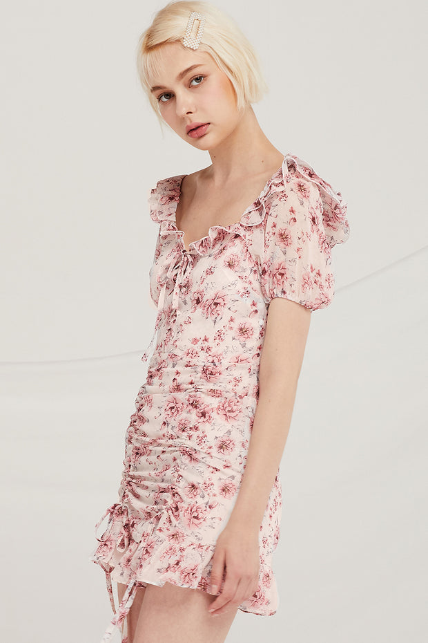 storets.com Grayson Floral Ruched Dress