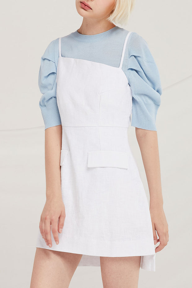 Arlo Asymmetric Linen Dress