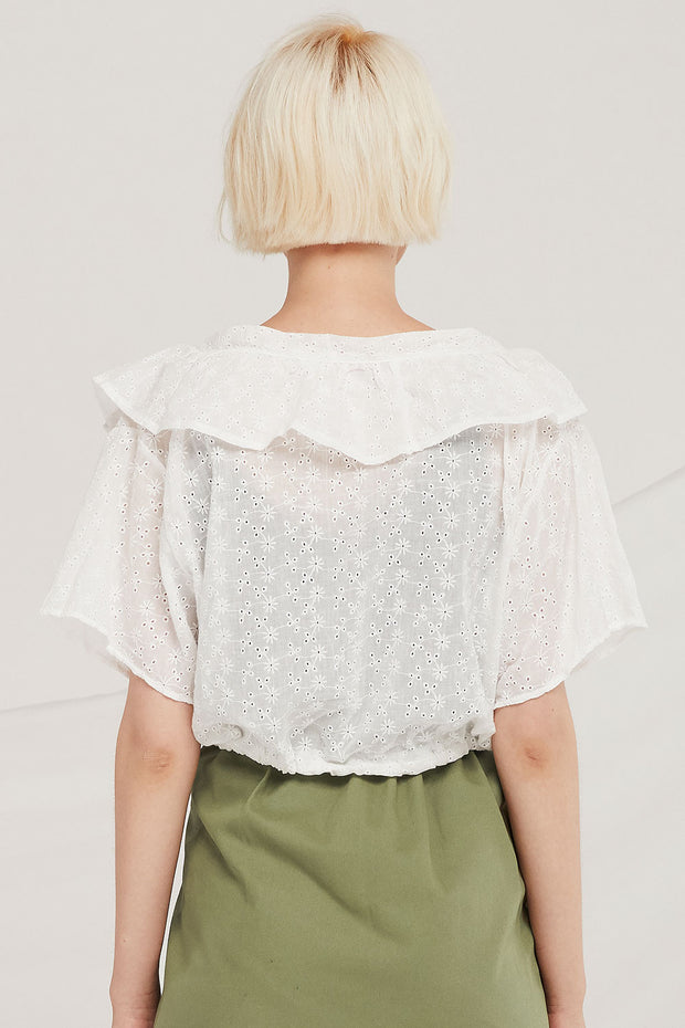 Ezra Embroidery Lace Blouse