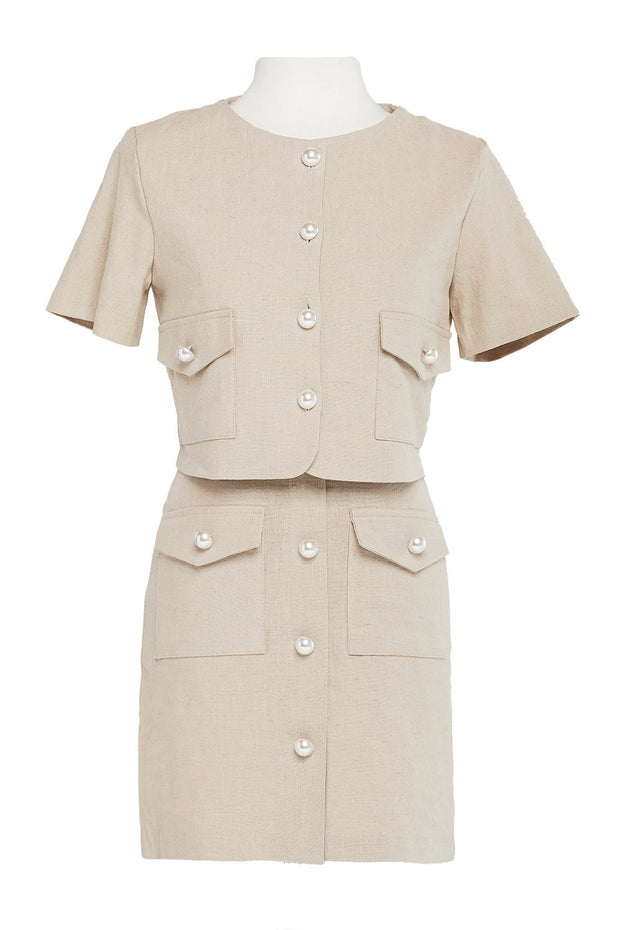 Norah Pearl Button Skirt