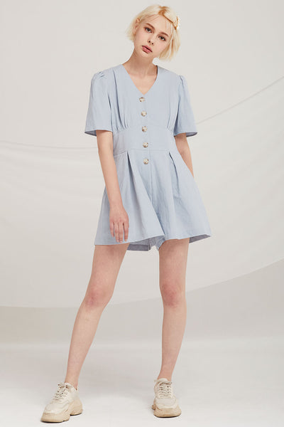 Luca Button Down Playsuit
