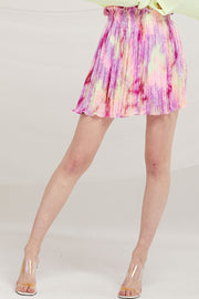 Owen Tie Dye Pleated Skirt