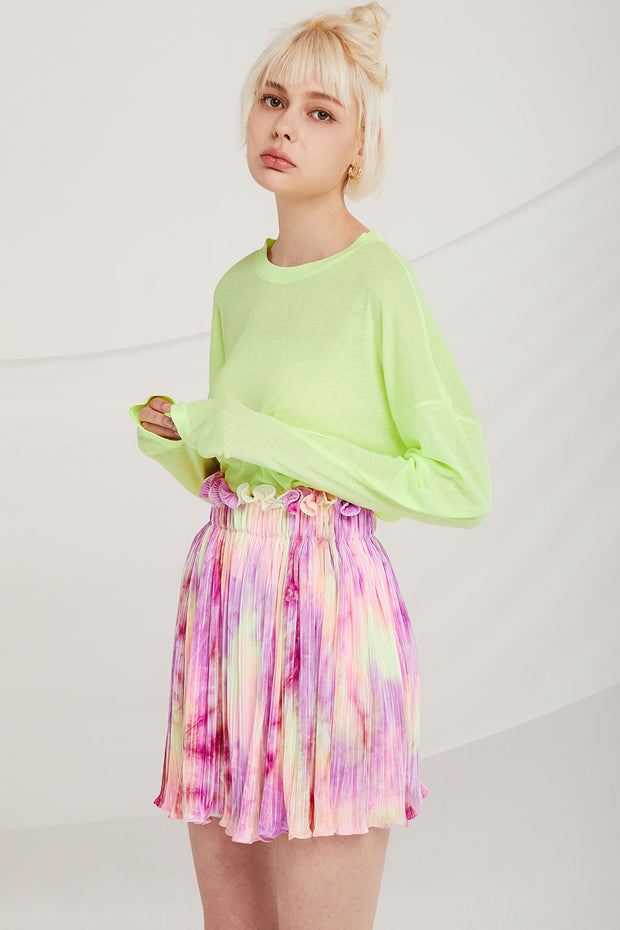 storets.com Owen Tie Dye Pleated Skirt