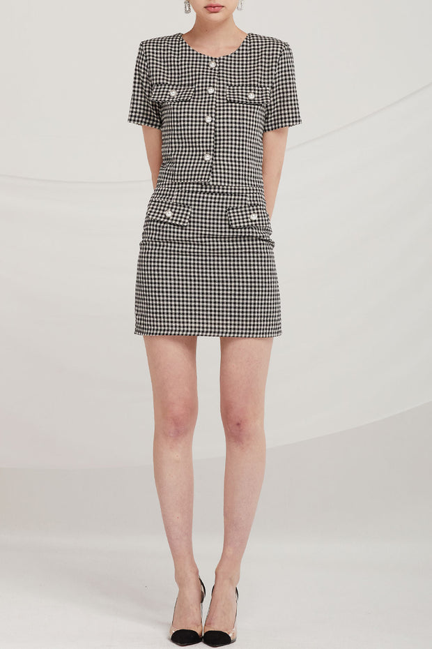Patricia Gingham Mini Skirt