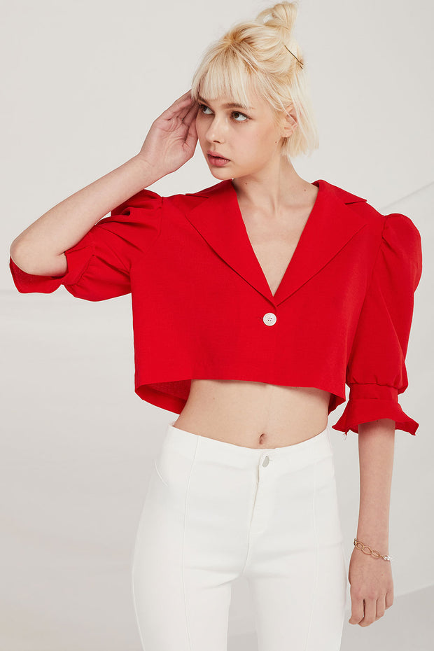 Elisa Puff Sleeve Crop Jacket