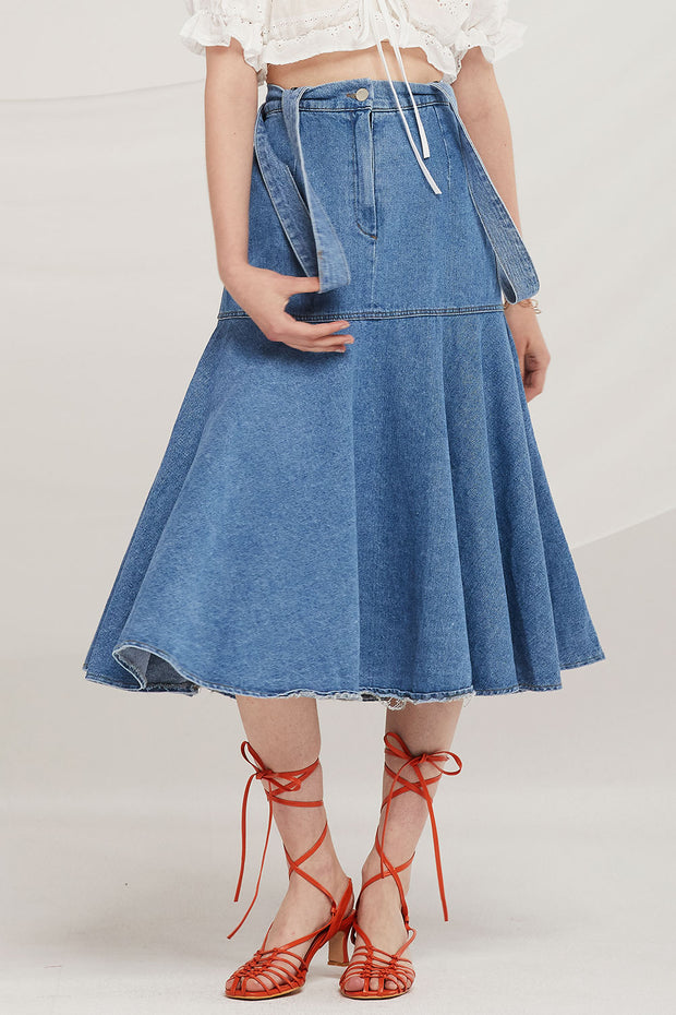 Teagan Denim Mermaid Overall Skirt