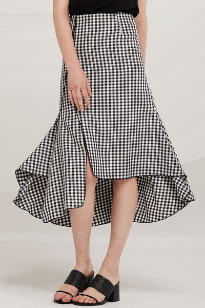Lucia Asymmetric Panel Skirt