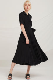 Finn Pleated Wrap Dress