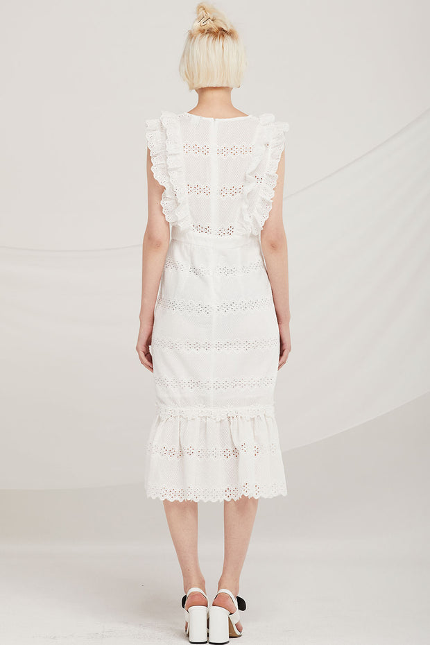 Dominic Eyelet Lace Mermaid Dress