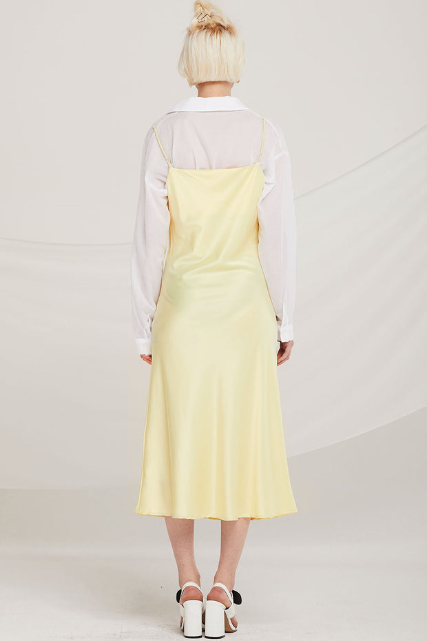 Amaya Satin Cowl Neck Dress