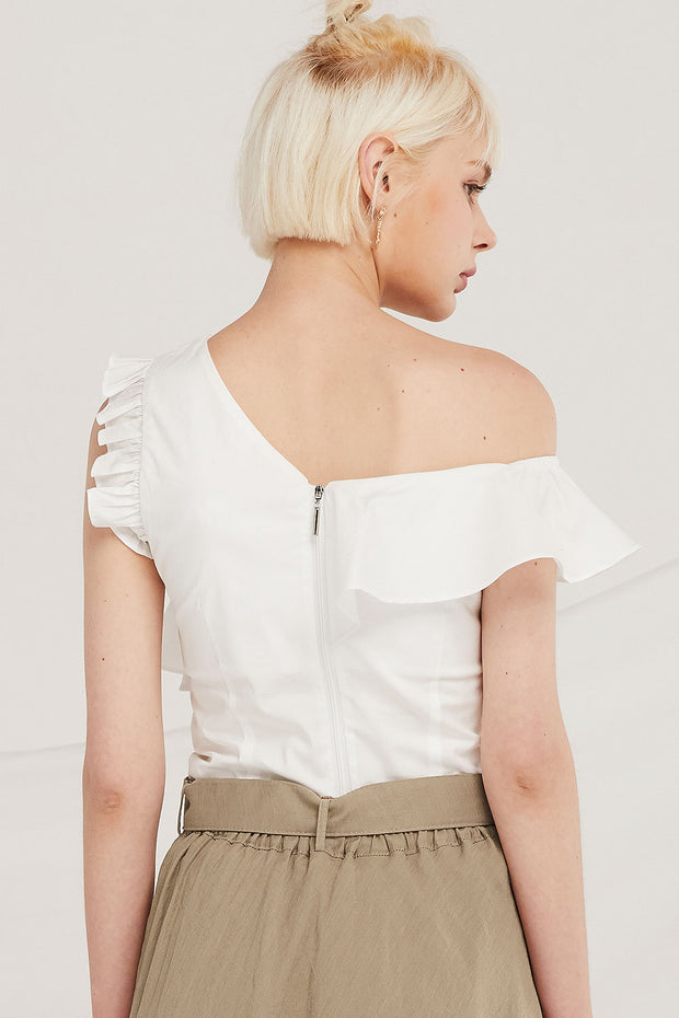 Juliana Asymmetric Ruffled Top