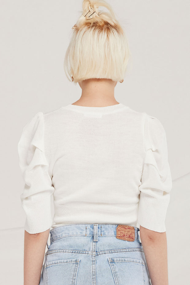 storets.com Trinity Puff Sleeve Knit Top