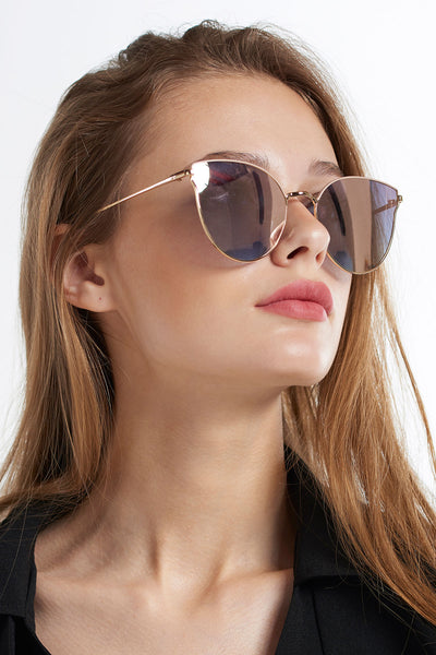 Wavy Bridge Sunglasses-Pink