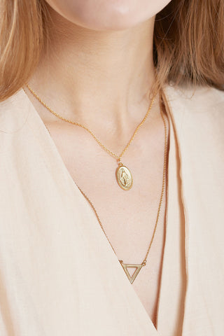 Vintage Pendant Necklace-Gold
