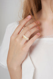 Marble Jade Ring-Ivory