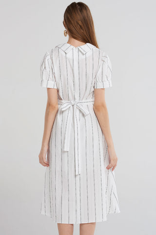 Marissa Lined Classical Dress-Ivory