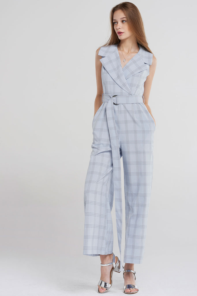 abc342a0a24 Leyla Glen Check Jumpsuit-Skyblue – storets.com